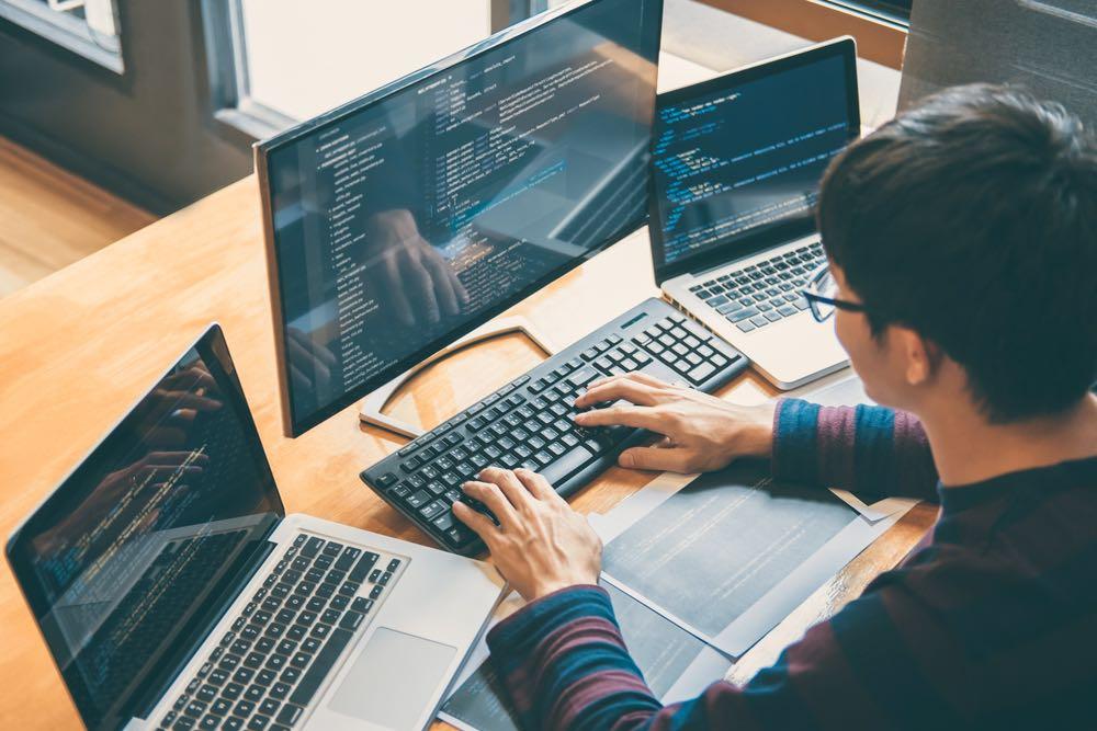 Professional development programmer working on website speed